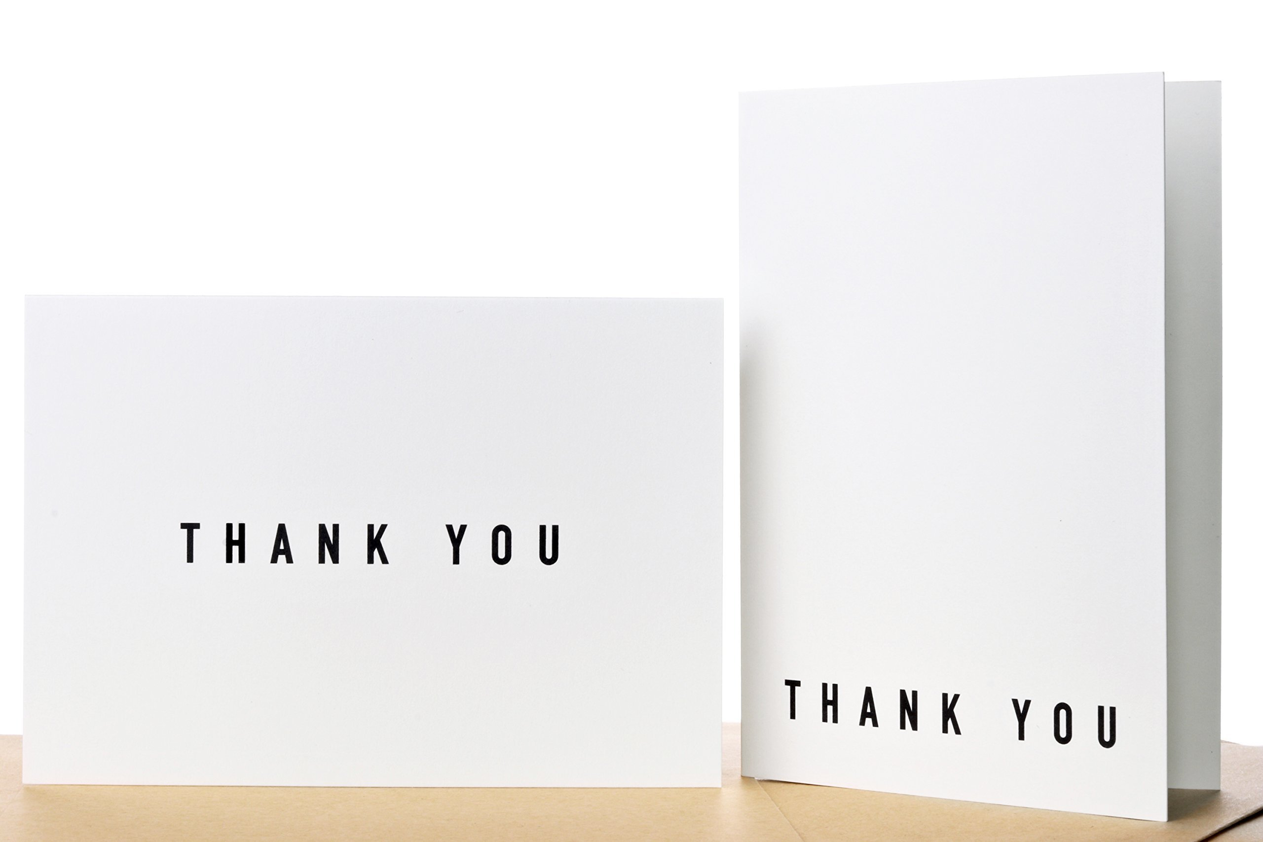 100 Thank You Cards Bulk With Self-Seal Envelopes - 2 Designs of Elegant Modern Thank You Cards For Any Occasion - Wedding, Engagement, Funeral, Graduation, Business
