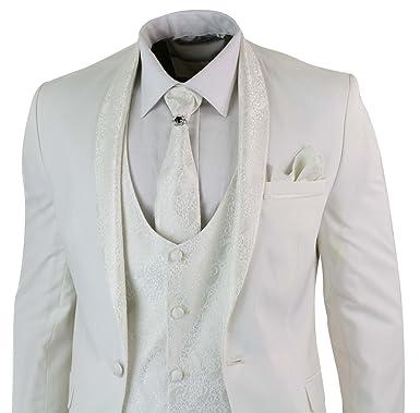 5f831daff122 TruClothing Herren Anzug   Gr. 44, cremefarben  Amazon.de  Bekleidung