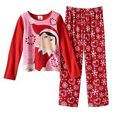 Amazon.com  The Elf on the Shelf Snowflake Pajama Set - Girls 4-10 ... 40be407fb