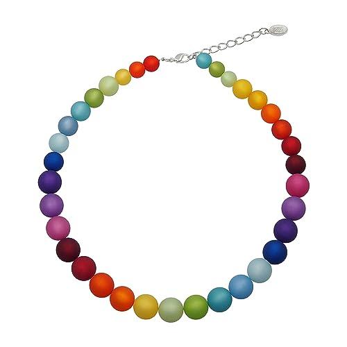 Halskette aus echten Polarisperlen ca. 45 cm + 4.5 cm Handarbeit
