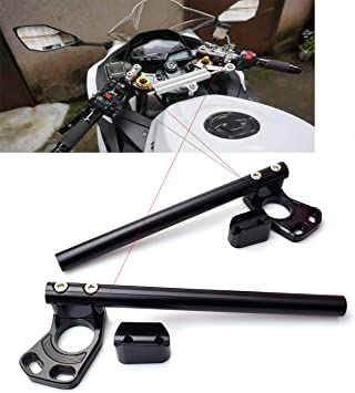 CNC Aluminum /Φ 37MM Clip ons Handlebar replacement Fit for Kawasaki Ninja 250R 2008-2012 Ninja 300 EX300 2013-2018,bars /Φ 7//8,37 mm Clip on Assembly Black