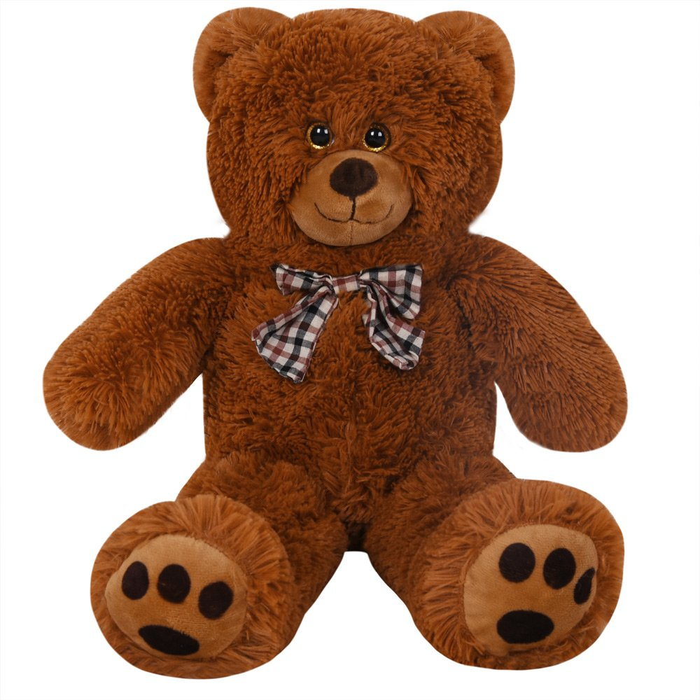 58deeb055d4 Deuba Teddy Bear L-XXXL Size Colour Choice 50cm  0.5m  20In Kids Soft Plush  Teddies Brown Big Large Giant Child Valentines Gift Toys Dolls   Amazon.co.uk  ...
