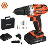 Vollplus Lithium-ion Cordless Drills Driver with Kit Box for DIY 18V Power Drills VPCD2121