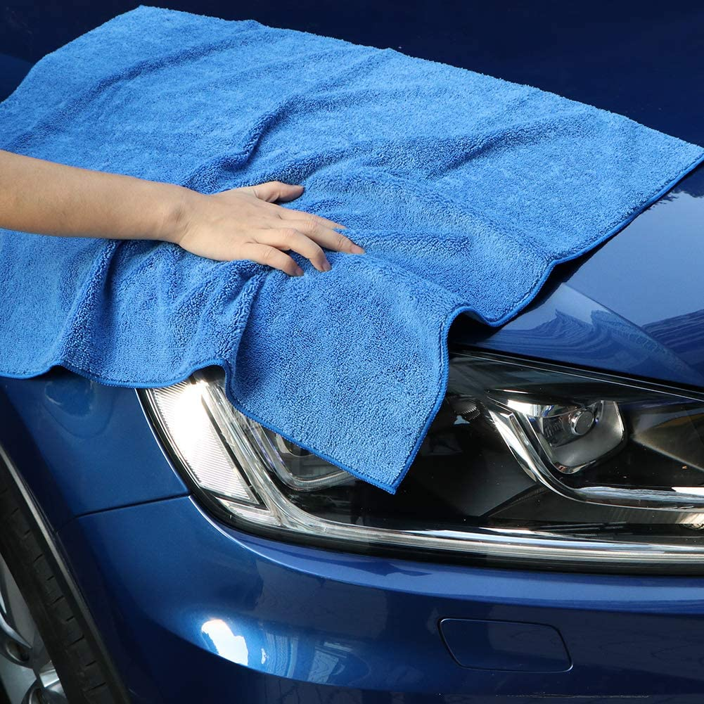 Strong Water Absorption Drying Towel for Cars and Boats, AIDEA Microfiber Drying Towel Trucks RVs Cleaning Cloths -Blue Scratch-Free 31 in. x 24 in. SUVs