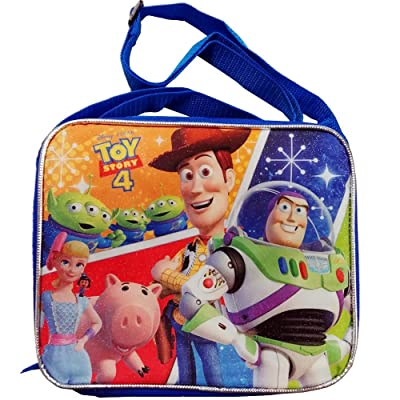Disney Pixar Toy Story 4 Rectangle Lunch Bag with Strap: Kitchen & Dining