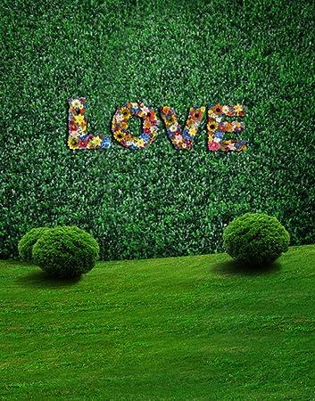 amazon com green grass wall love photography backdrops photo props