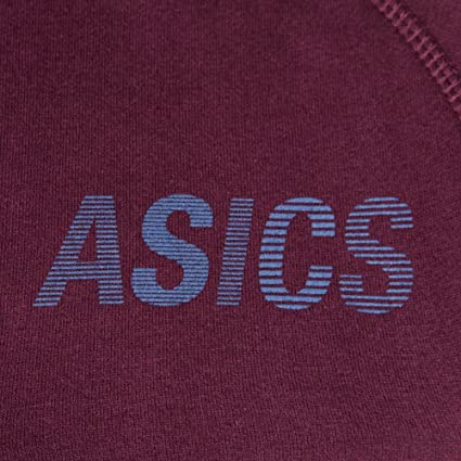 6de33279cfa04 Asics Sweat à Capuche Bordeaux Homme  Amazon.fr  Vêtements et accessoires