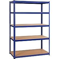 Yaheetech Rek voor zware lasten, 180 x 120 x 60 cm, opslagrek, 5 planken, metalen rek, max. belastbaarheid voor elk vak…