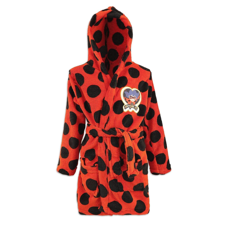 Bambina 5240041 Full Print Miraculous Ladybug e Cat Noir Invernale Vestaglia Giacca da Camera Calda e Morbida in Pile