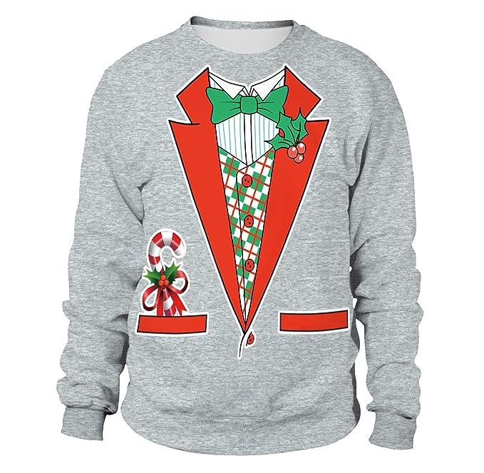 Sudadera Navidad Estampadas Sudaderas Navideñas Unisex Jersey Sueter Navideño Hombre Mujer Reno Sweaters Pullover Cuello Redondo Largas Chica Anchas ...