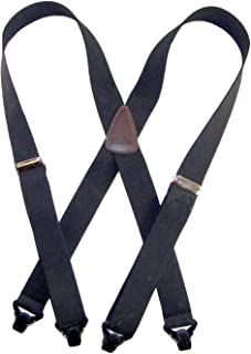 product image for American made Holdup Black Ski-Ups X-back Suspenders with Patented black Gripper Clasps
