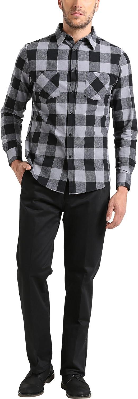 Lower East Flanell, Kariert Camisa, Multicolor Schwarz/Grau ...