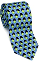 Josh Bach Mens Apples and Hats Art-Inspired Silk Necktie, Made in USA