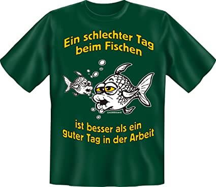 Cooles Angel Fun T-Shirt Der perfekte Angeltag bedruckt Angeln  Fischen Fishing