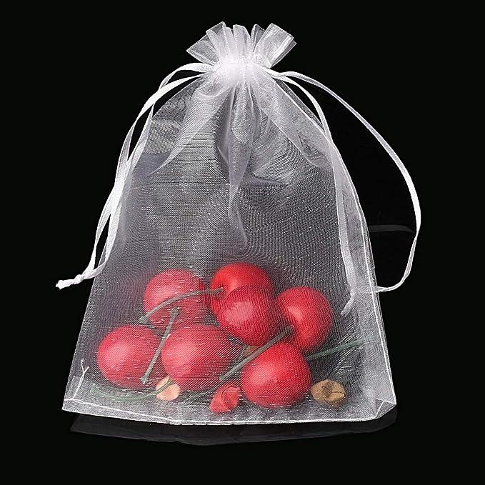 Utilisables Comme Pochettes /à Bonbons Pochettes /à Bijoux DELSEN 100 Pi/èces 13x18cm Blanc Sacs Organza Sachets Pochettes Cadeaux de Mariage ou de No/ël