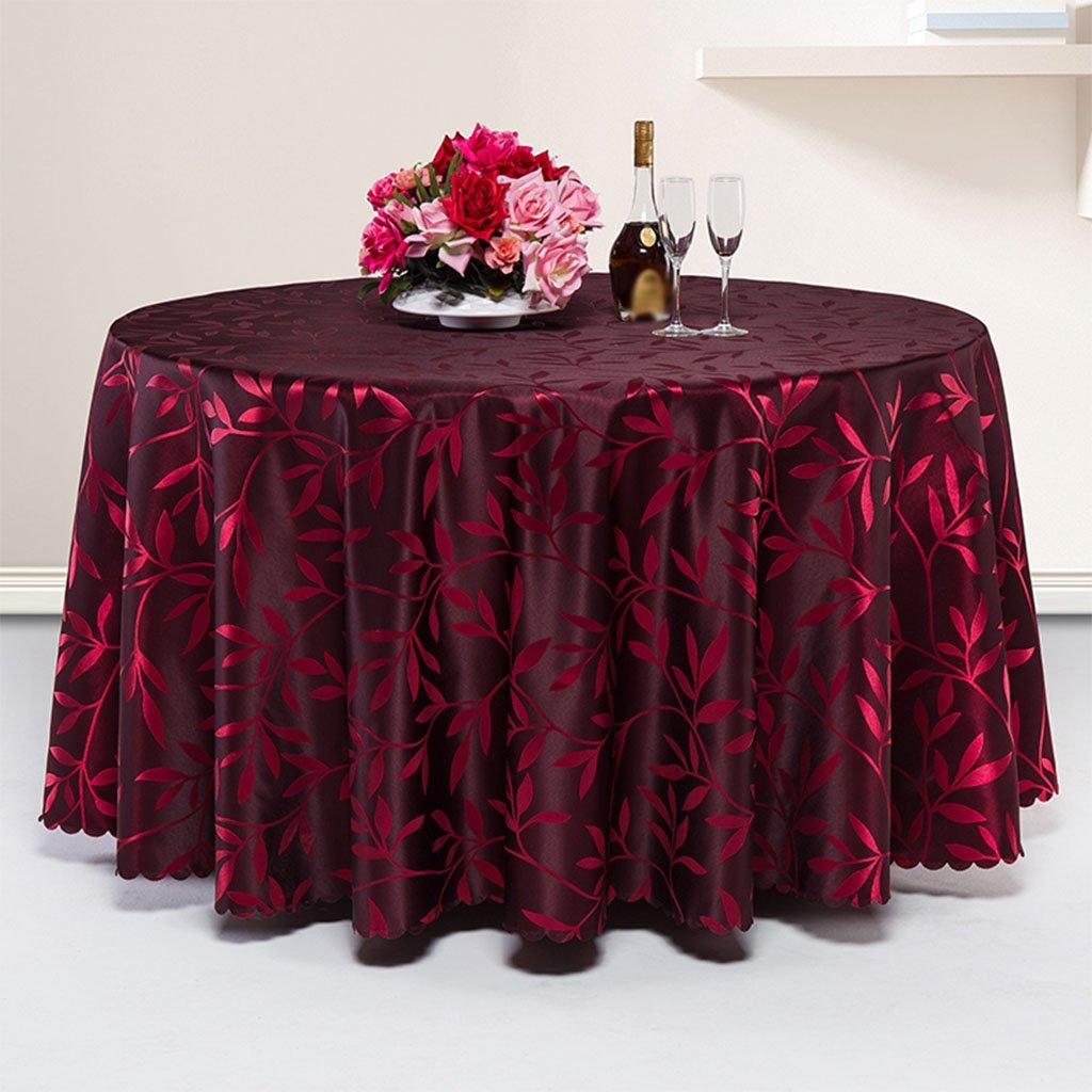 CHENGYI Rojo Mantel de tela de tela de patruml;n suave Moderno Simple de moda Saluml;n de lujo Cocina Restaurante Hotel Home Textiles (Este producto suml;lo vende Manteles) Diuml;cent;metro 260cm