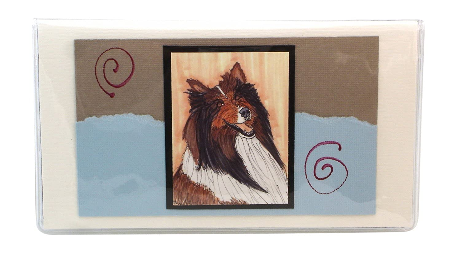 Sheltie Checkbook Made in the USA #703