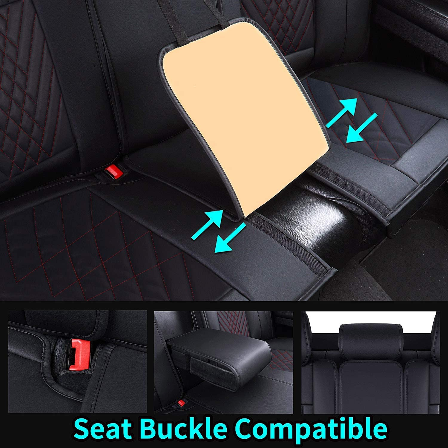 Black Whole-seat Coverage in Handsome Waterproof Leather Universal ...