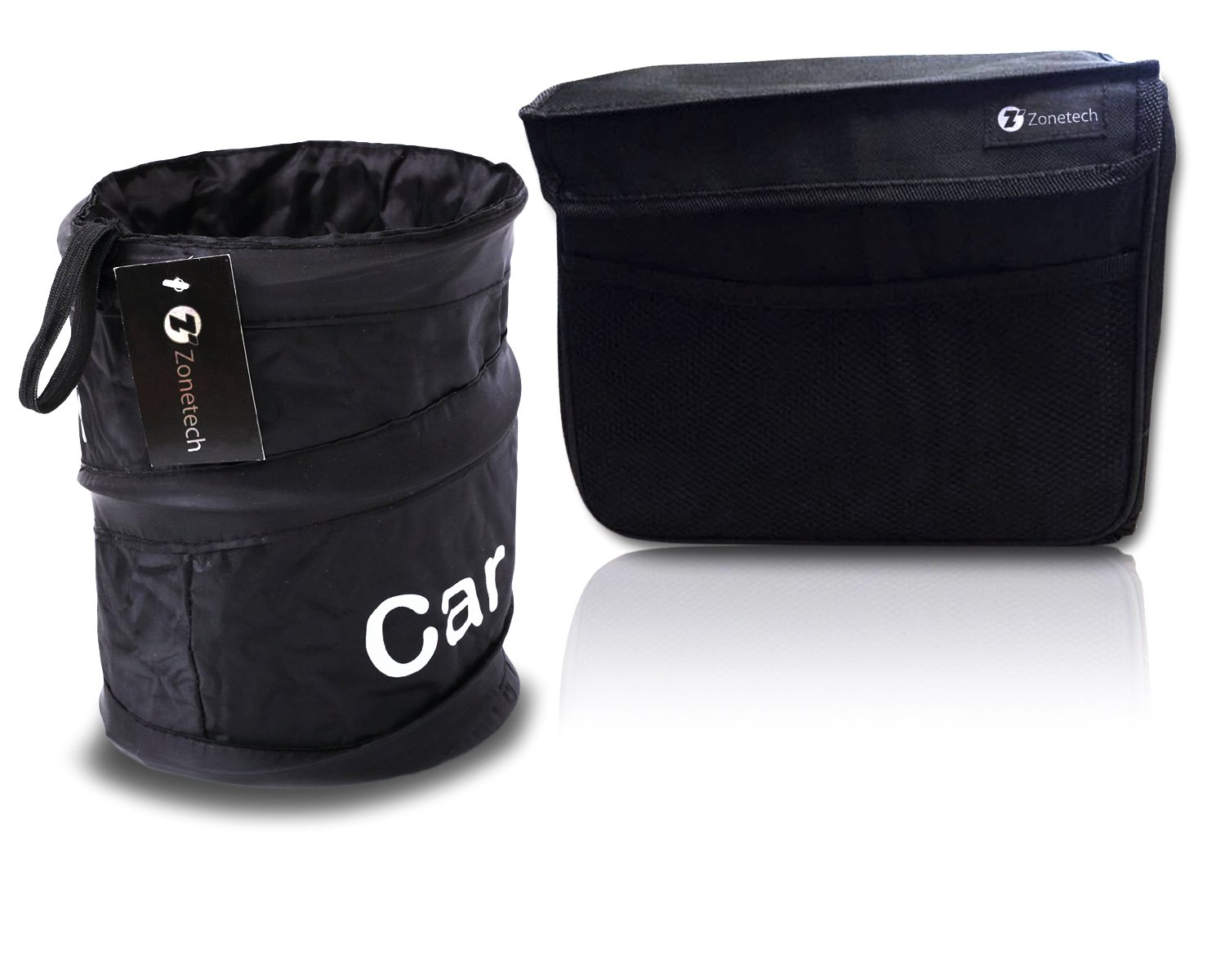 zone tech collapsible pop up leak proof trash can and extra large litter bag ebay. Black Bedroom Furniture Sets. Home Design Ideas