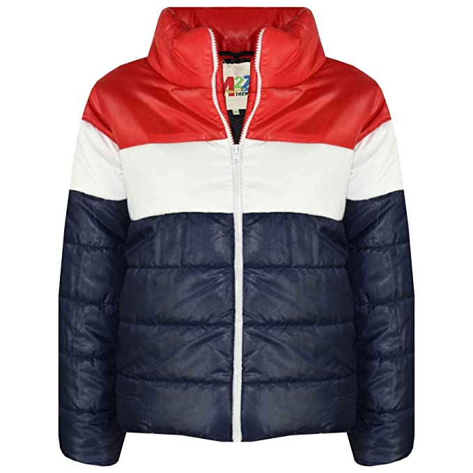 43f324aba6832 Amazon.com: Kids Girls Boys Designer Contrast Panel Hooded Jackets Padded  Quilted Warm Coats: Clothing