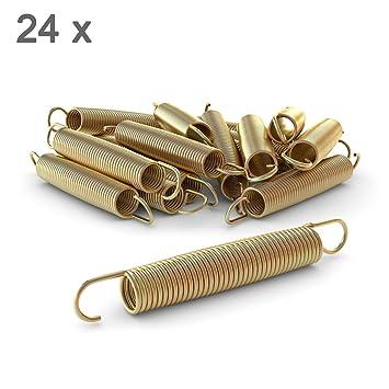 Ampel 24 - Lote de 24 muelles 178x24 mm para Camas elásticas de 430 a 490 cm | Material Reforzado