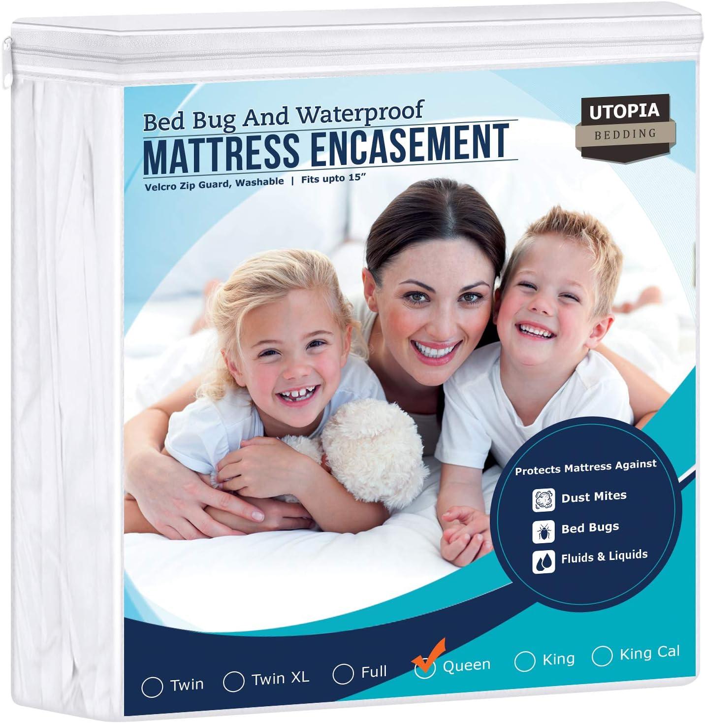 Amazon.com: Utopia Bedding Zippered Mattress Encasement