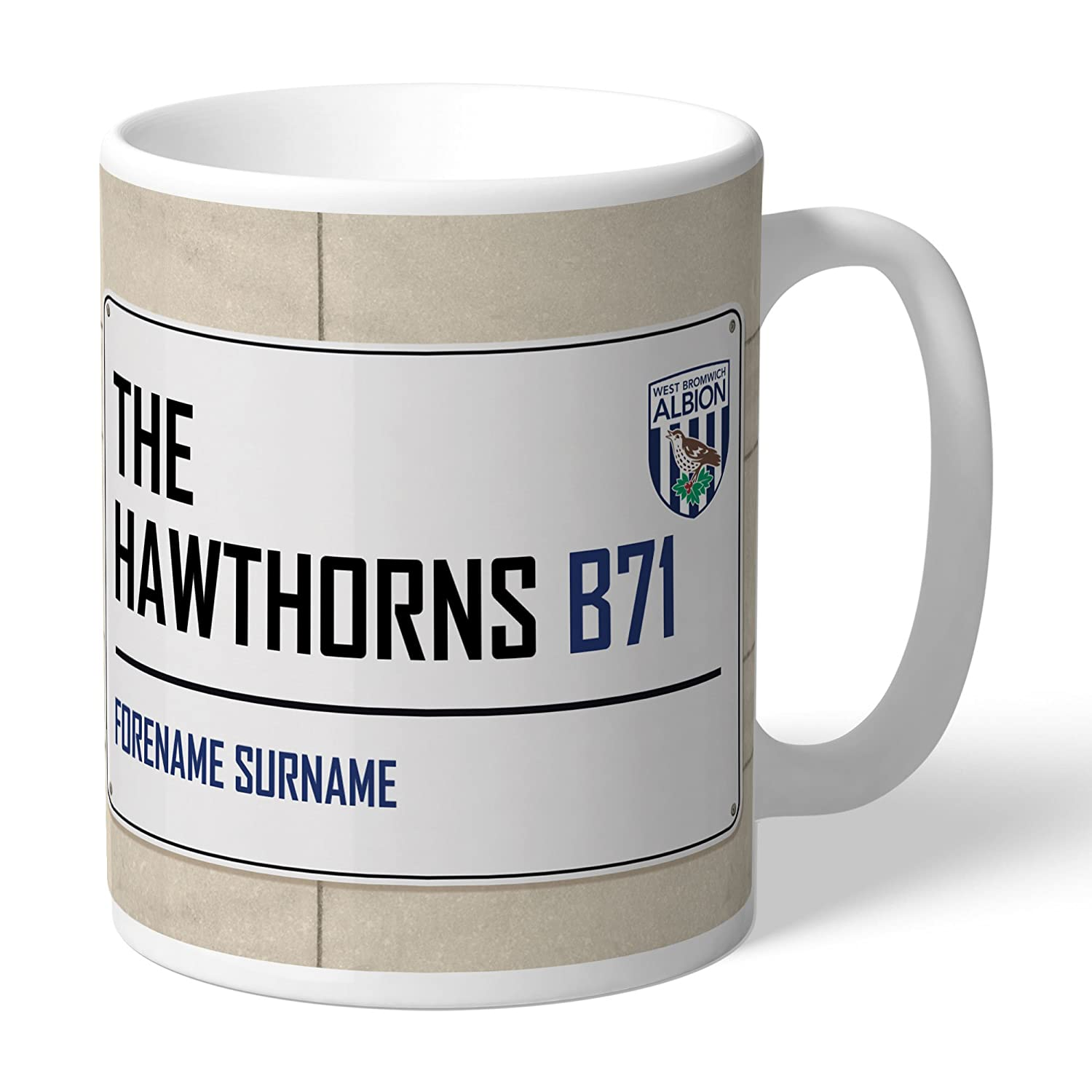 Official Personalised West Bromwich Albion FC Dressing Room Mug