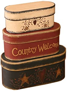 Your Heart's Delight 7-3/4 by 3-1/2-Inch Country Welcome Nesting Boxes
