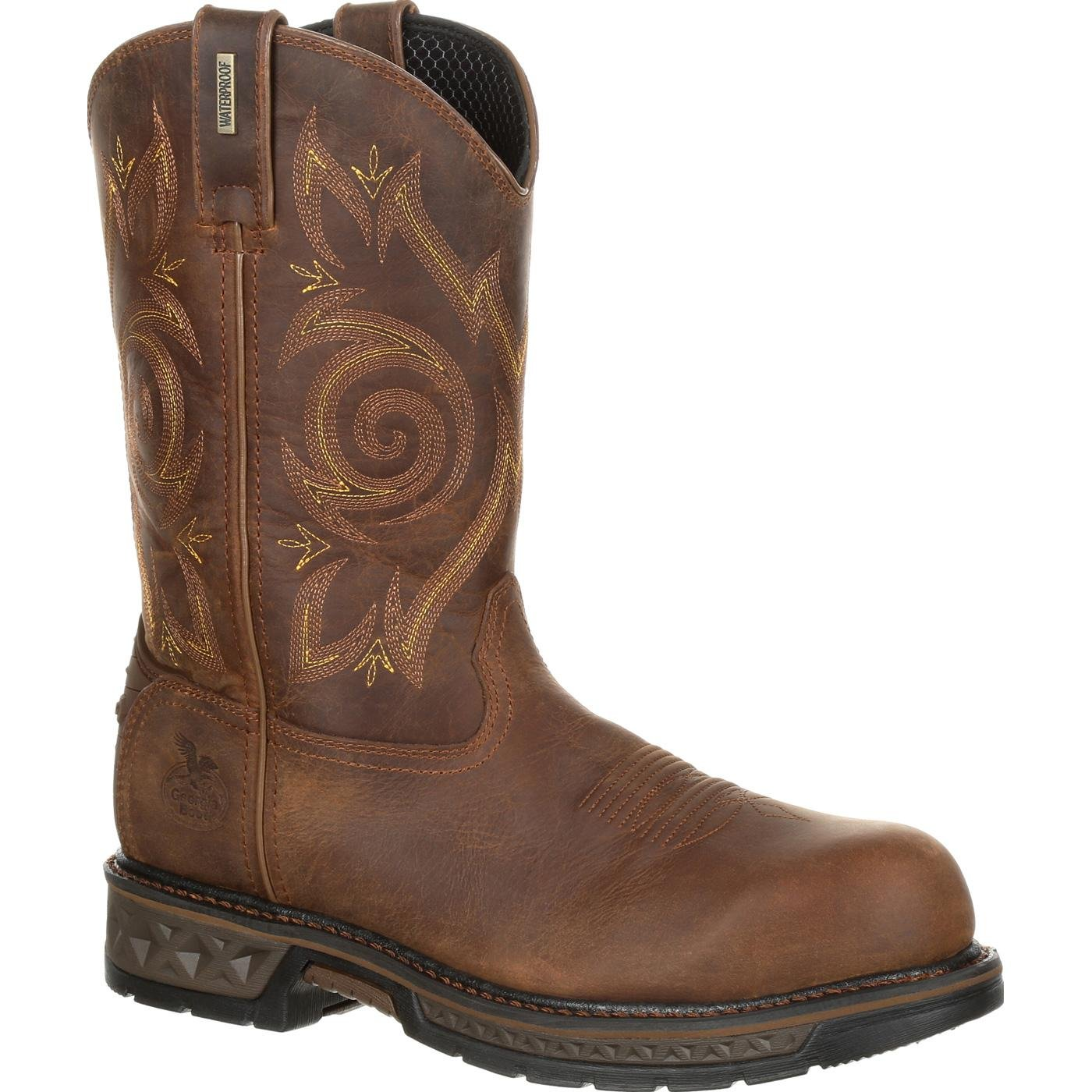 Georgia Men's Boot Carbo-Tec Lt Waterproof Work Composite Toe Brown 14 EE