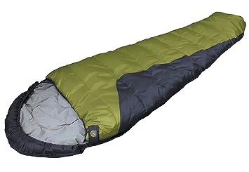 High Peak USA Alpinizmo TR 0 - Saco de dormir para mamá con saco de dormir, color verde y negro: Amazon.es: Deportes y aire libre
