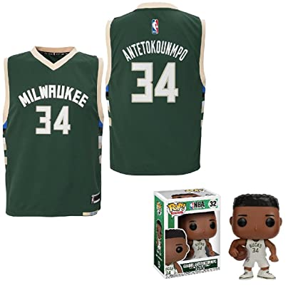8a3af4490 NBA by Outerstuff Giannis Antetokounmpo Milwaukee Bucks  34 Youth Road  Jersey Funko Pop Figure