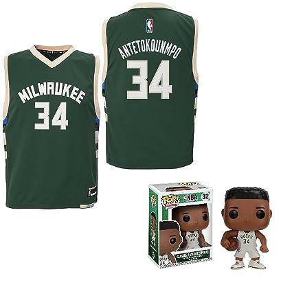 be1f50f40 NBA by Outerstuff Giannis Antetokounmpo Milwaukee Bucks  34 Youth Road  Jersey Funko Pop Figure (