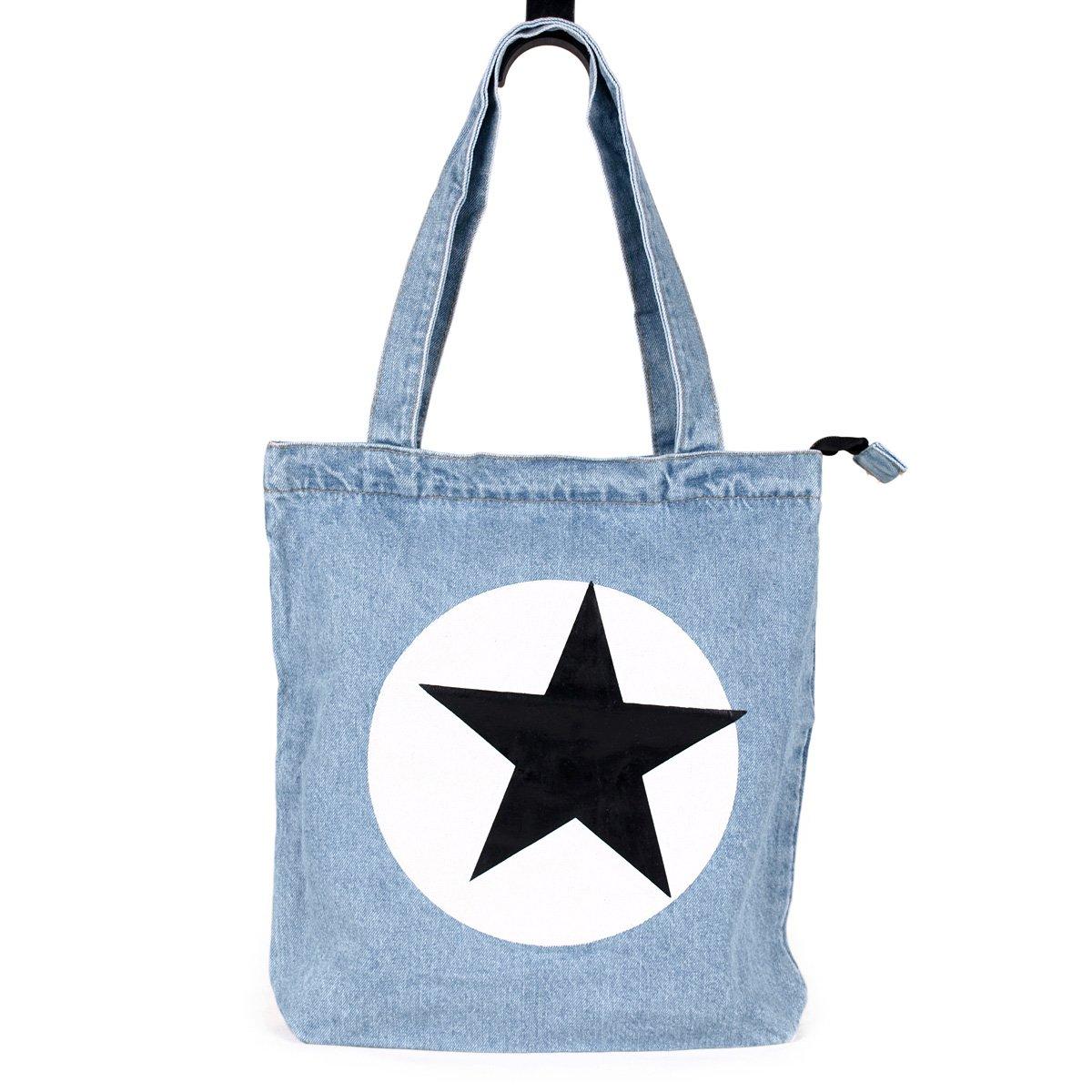 fabce6e76880 Amazon.com  Premium Lightweight Jeans Fabric Tote Shoulder Bag Handbag