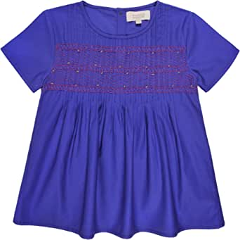 Bonnet à Pompon Blouses, for Girls, Size 9-10 Years