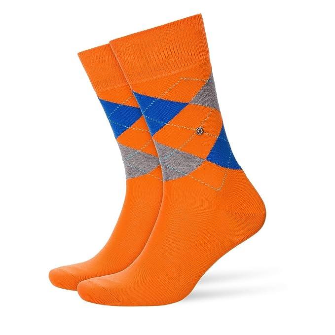 Burlington - Medias de fútbol - Cuadrados - para hombre Carrot Orange (8951) 40