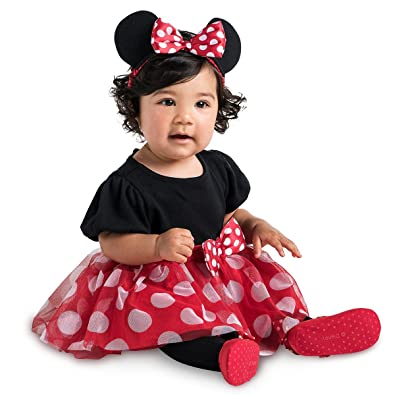 f6f0470f0 Amazon.com: Minnie Mouse Disney Red Costume Bodysuit for Baby - Size 18-24  Months: Shoes
