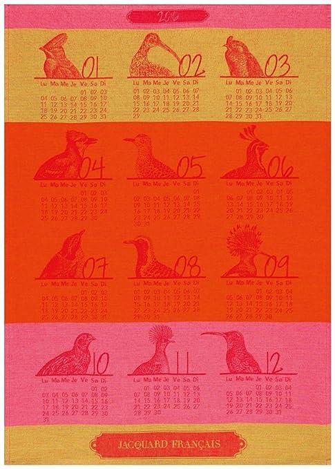 Le Jacquard Francais - paño de cocina 80X60 con calendario de 60 x 80 cm lanzando