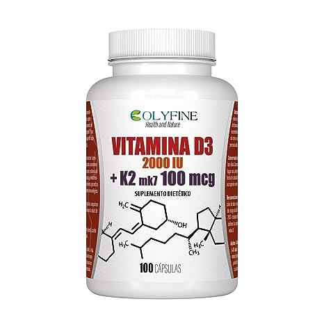 Vitamina D3 200 IU +K2 mk7 100mcg 100 Capsulas