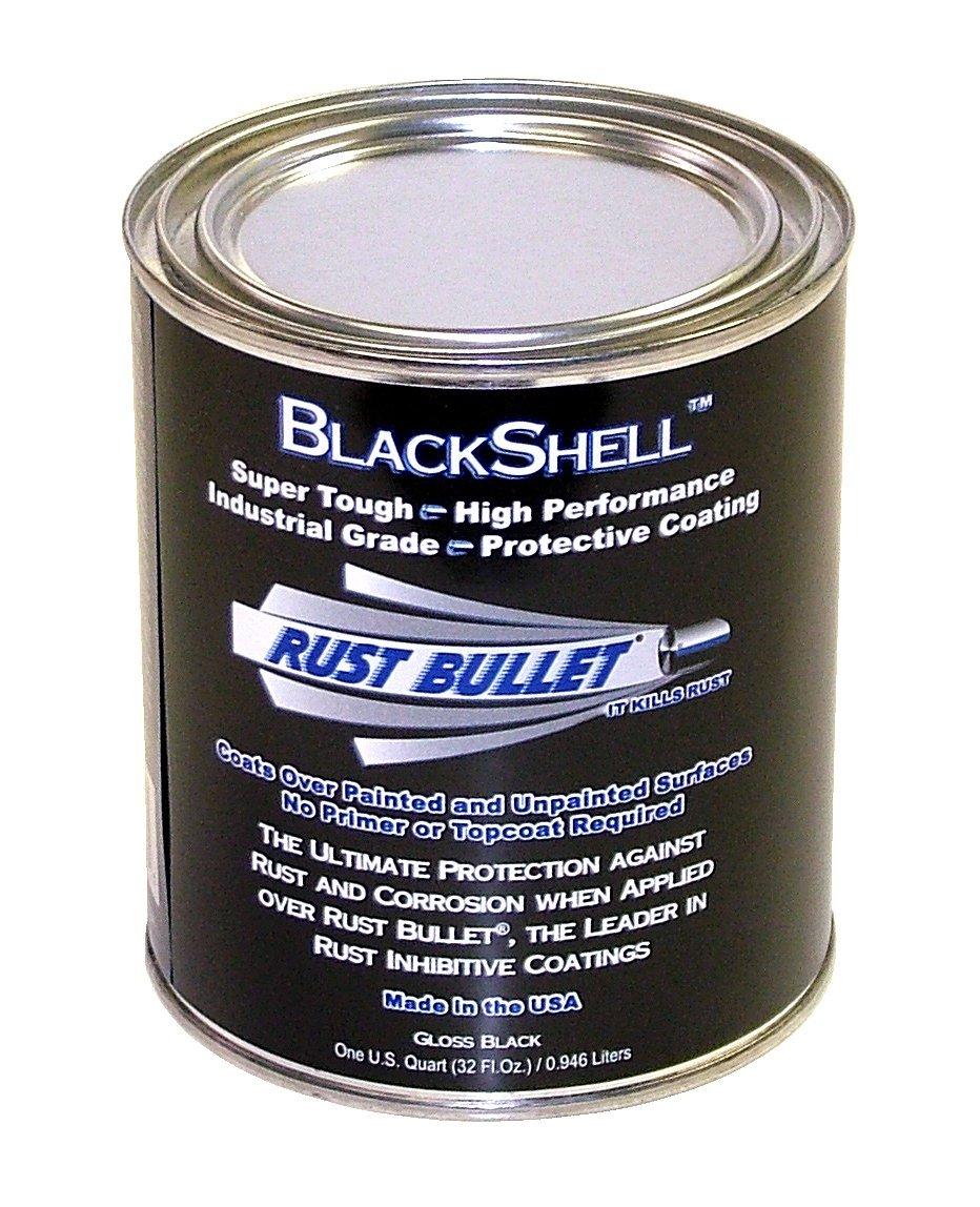 Rust Bullet 856084000630 BSQ BlackShell Rust Preventative and Protective Coating Paint, 1 Quart Metal Can, Gloss Black