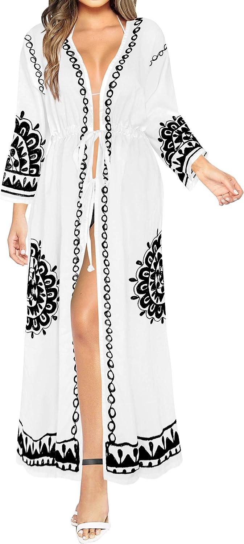 LA LEELA Bikini Swimwear Swimsuit Beach Cover ups Women Summer Dress Solid
