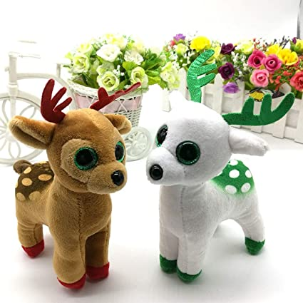 JEWH Sika Deer - Big Eyes Plush Toys - Stuffed Animals TY Beanie Boos Collection -