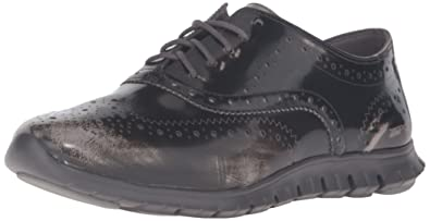 Cole Haan Women's Zerogrand Wing Ox Oxford, Ironstone Brush Off  Leather/Pavement, 5