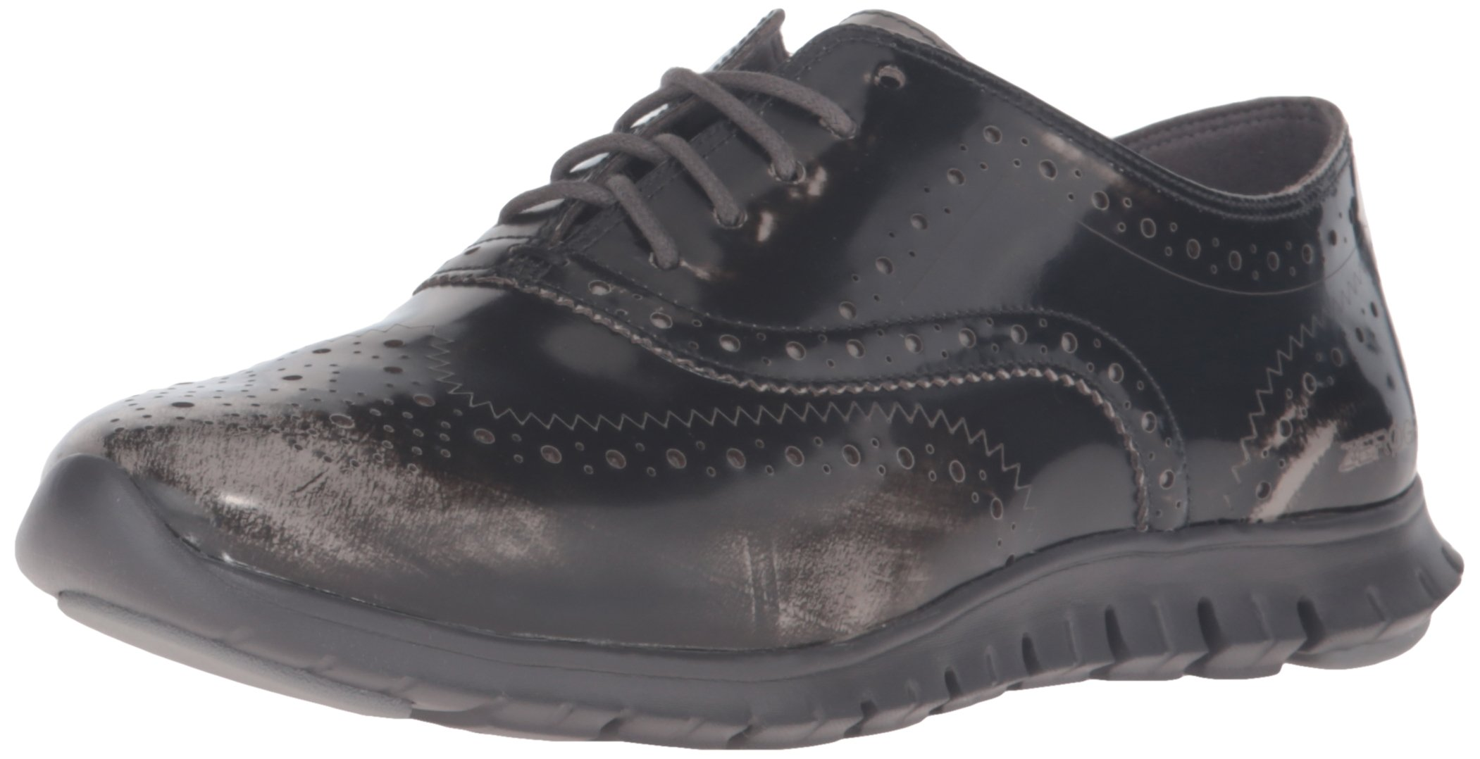 Cole Haan Women's Zerogrand Wing Ox Oxford, Ironstone Brush Off Leather/Pavement, 8 B US