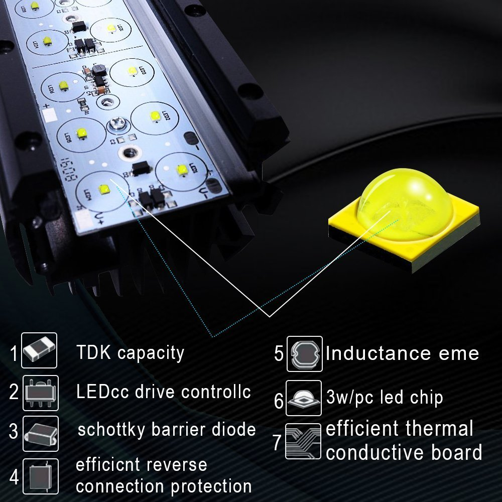 Roof Top Cargo Dot 20 Led Light Bar Combo Pods Wire Kit Car Suv Best Wiring Kits For Audio Rooftop