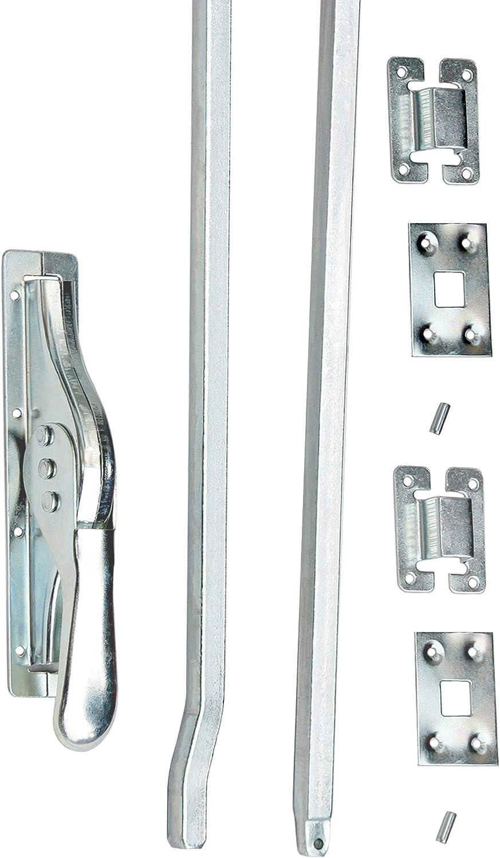 1 Set Tortreibriegel Torverschluss T/ürtreibriegel Stangen 2140 mm Silber Verz.