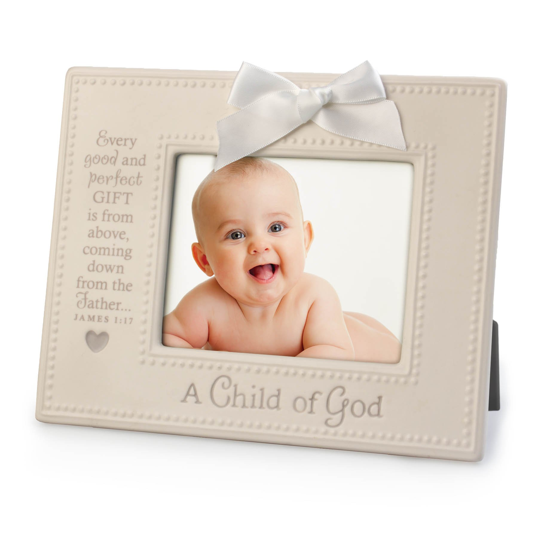 Lighthouse Christian Products A Child of God Ceramic Frame, 4 x 6'', White/Gray