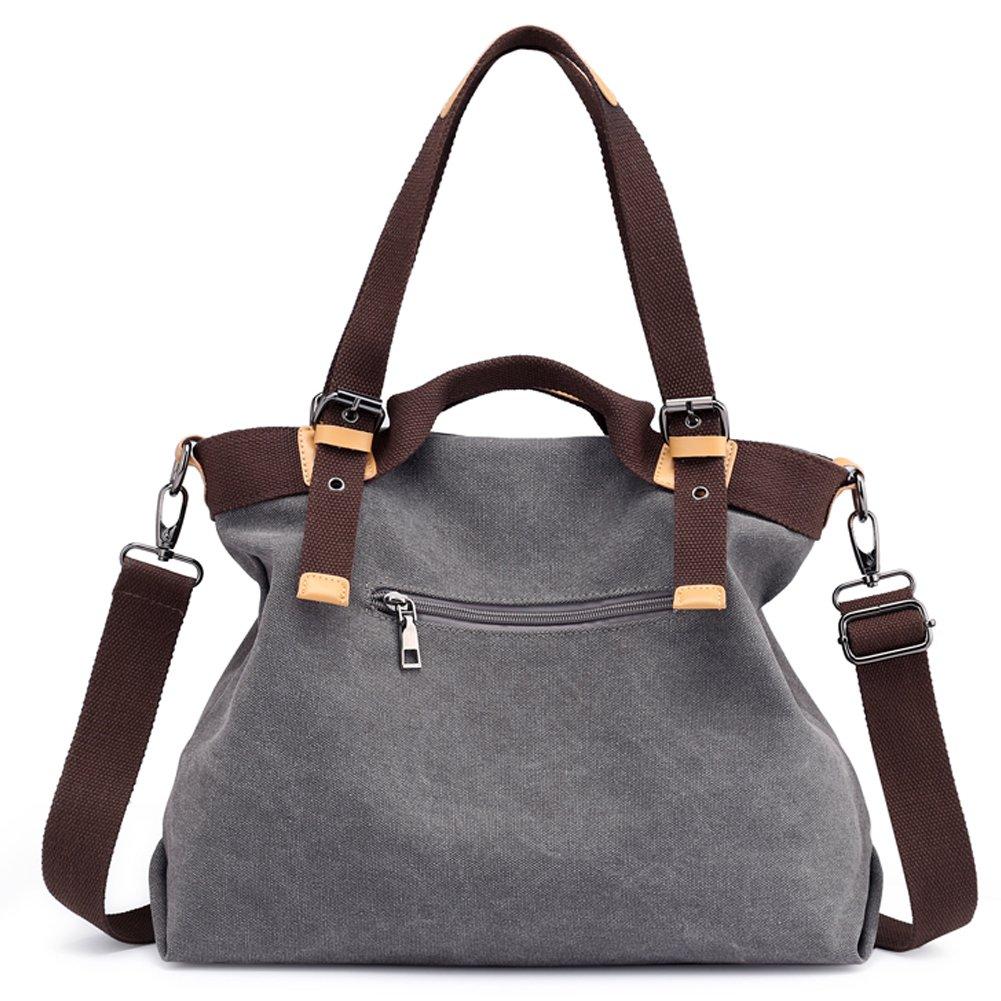 Z-joyee Women Shoulder bags Casual Vintage Hobo Canvas Handbags Top Handle Tote Crossbody Shopping Bags by Z-joyee (Image #4)
