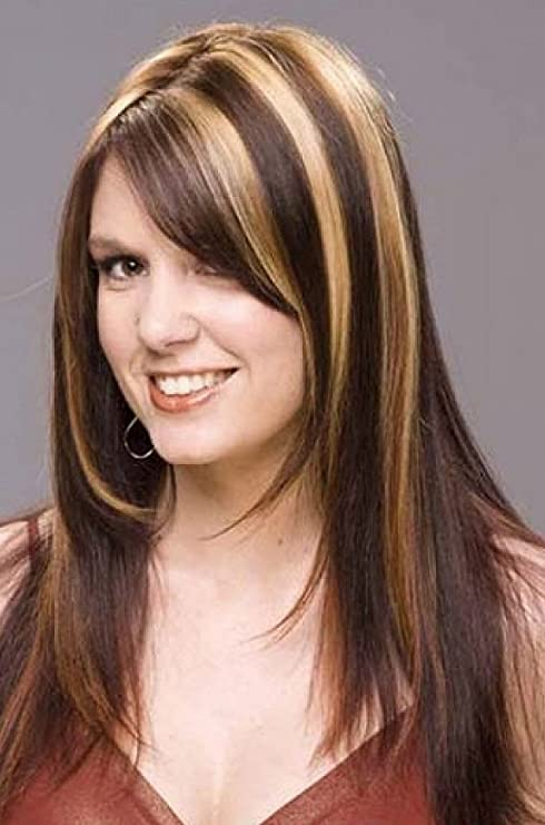 Prime Straight Hairpieces Hair Extensions 1 Clip On Highlighter