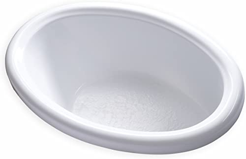 Carver Tubs – DJO5839-58 L x 39 W x 18.5 H – White Drop In Acrylic Soaking Bathtub