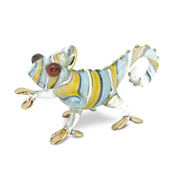 Buy Nacraftth Glass Figurines Chameleon Handmade Glassblowing Murano Artwork Figure Crystal Animal Ornaments Garden Decor Reptile Lover Gifts Online At Low Prices In India Amazon In